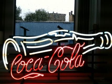 Neon Wewnętrzny- Logo Coca-Cola
