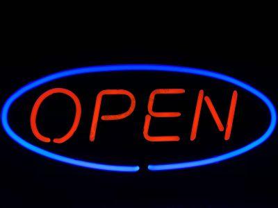 Neon Wewnętrzny- Znak Open