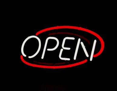 Neon Wewnętrzny- Znak Open Owal