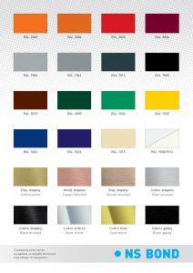 ACP Płyty kompozytowe- podstawowe kolory / ACP