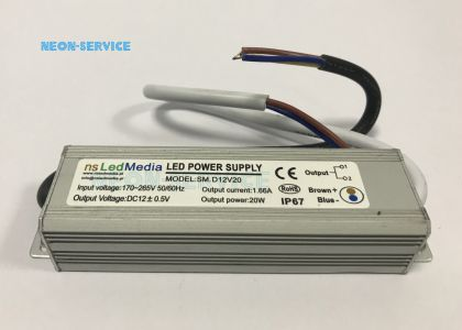 Zasilacz LED 12V 20W IP67